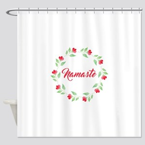 Namaste Wreath Shower Curtain
