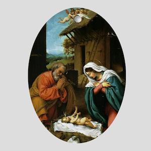 Nativity of Christ, Birth of Christ, Oval Ornament