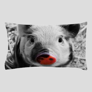 Lovely Piglet, Black,white,splash Pillow Case