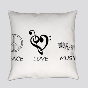 peace love Everyday Pillow
