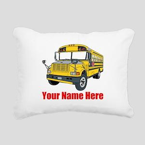 School Bus Rectangular Canvas Pillow