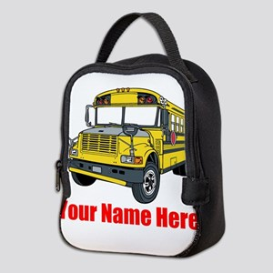 School Bus Neoprene Lunch Bag