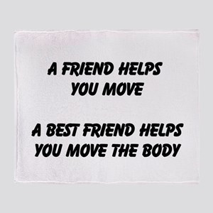 Best Friend Throw Blanket