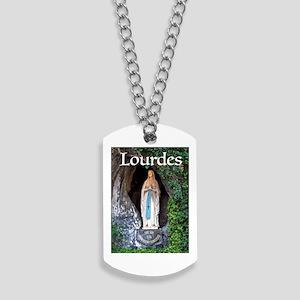 Virgin Mary Lourdes 1 Dog Tags