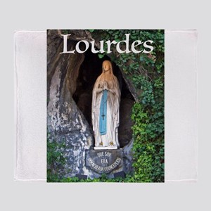 Virgin Mary Lourdes 1 Throw Blanket