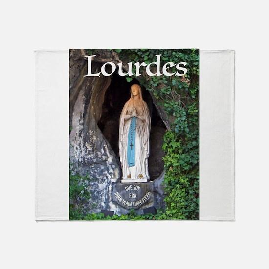 Virgin Mary Lourdes 1 Throw Blanket