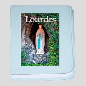 Virgin Mary Lourdes 1 baby blanket