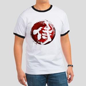 Samurai Kanji (White) Ringer T