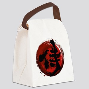 Samurai Kanji Canvas Lunch Bag