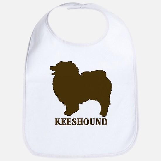 Keeshound (brown) Bib