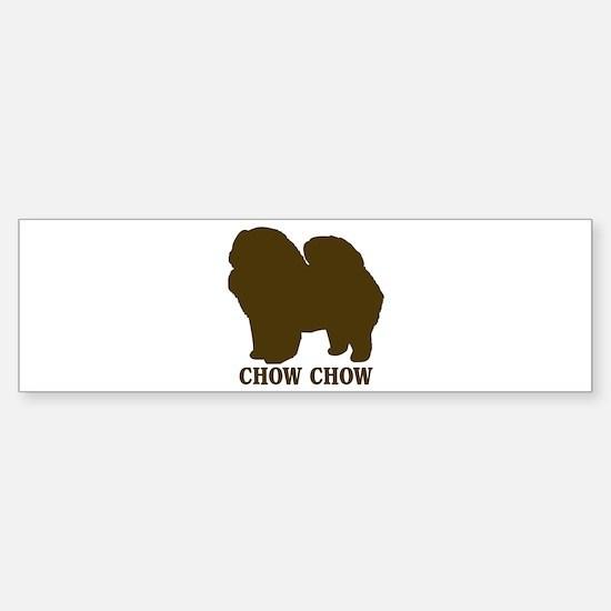 Chow Chow (brown) Bumper Bumper Bumper Sticker