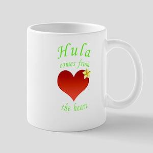 Hula heart plumeria no background green tex Mu