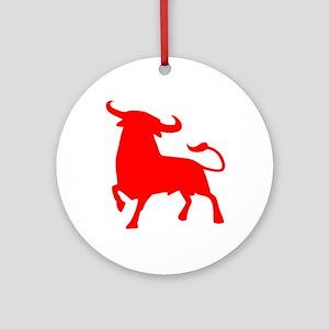 bull spain Round Ornament