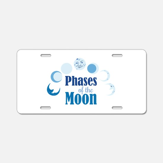 Phases Of Moon Aluminum License Plate