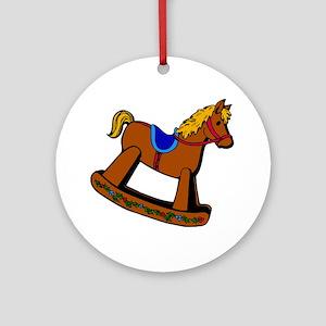 Rocking Horse Round Ornament