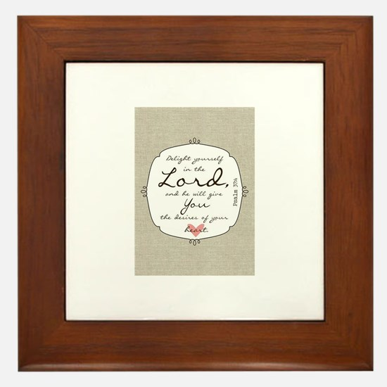 Delight Yourself in the Lord Framed Tile