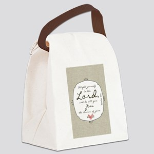 Delight Yourself in the Lord Canvas Lunch Bag