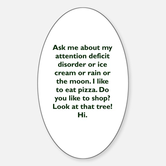 Cute Adhd Sticker (Oval)
