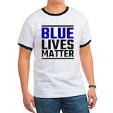 Blue lives matter magnetic Ringer T