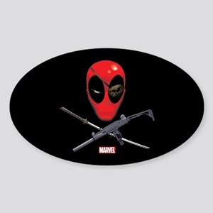 Deadpool Jolly Roger Sticker (Oval)