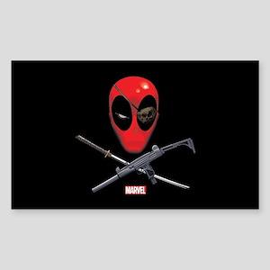 Deadpool Jolly Roger Sticker (Rectangle)