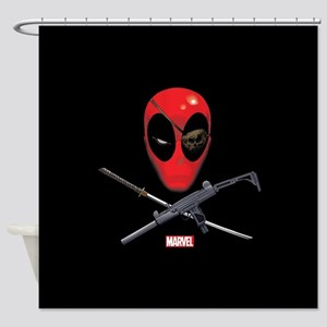 Deadpool Jolly Roger Shower Curtain