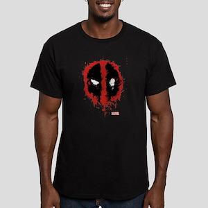 Deadpool Splatter Mask Men's Fitted T-Shirt (dark)