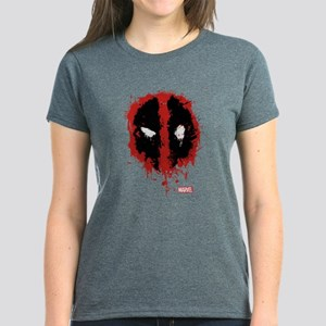 Deadpool Splatter Mask Women's Dark T-Shirt