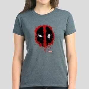 Deadpool Splatter Mask Women's Dark T-Shirt