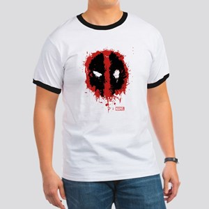 Deadpool Splatter Mask Ringer T