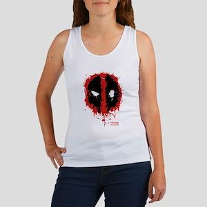 Deadpool Splatter Mask Women's Tank Top