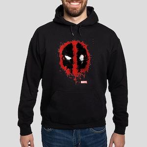 Deadpool Splatter Mask Hoodie (dark)