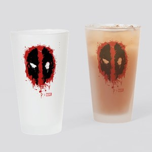 Deadpool Splatter Mask Drinking Glass