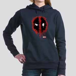 Deadpool Splatter Mask Women's Hooded Sweatshirt