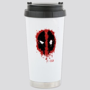 Deadpool Splatter Mask Stainless Steel Travel Mug