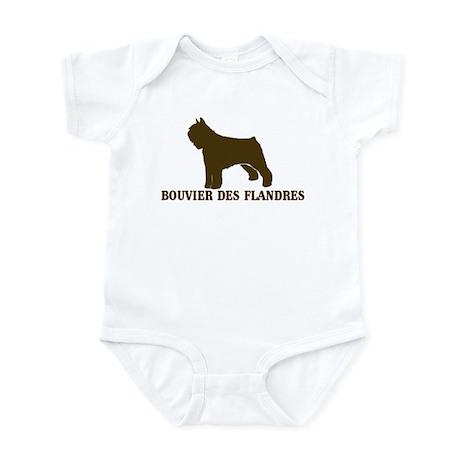 Bouvier Des Flandres (brown) Infant Bodysuit