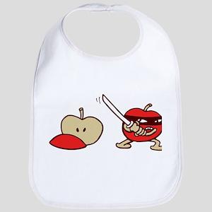 ninja apple funny Bib