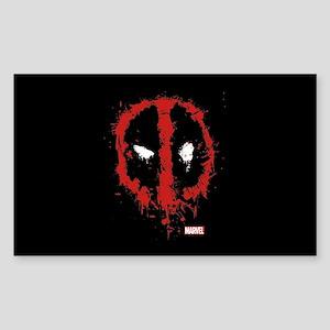 Deadpool Splatter Mask Sticker (Rectangle)