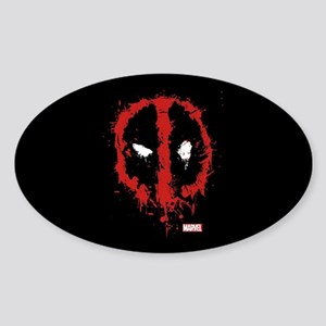 Deadpool Splatter Mask Sticker (Oval)