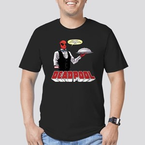 deadpool silver Men's Fitted T-Shirt (dark)