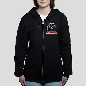 deadpool silver Women's Zip Hoodie