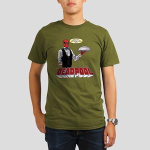 deadpool silver Organic Men's T-Shirt (dark)
