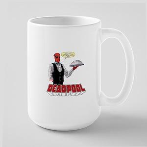 deadpool silver Large Mug