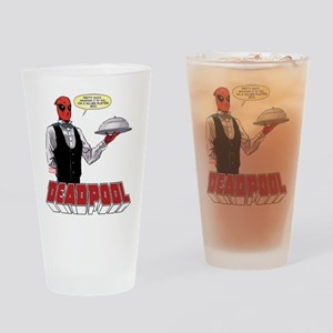 deadpool silver Drinking Glass