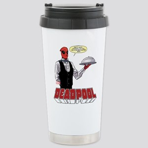 deadpool silver Stainless Steel Travel Mug