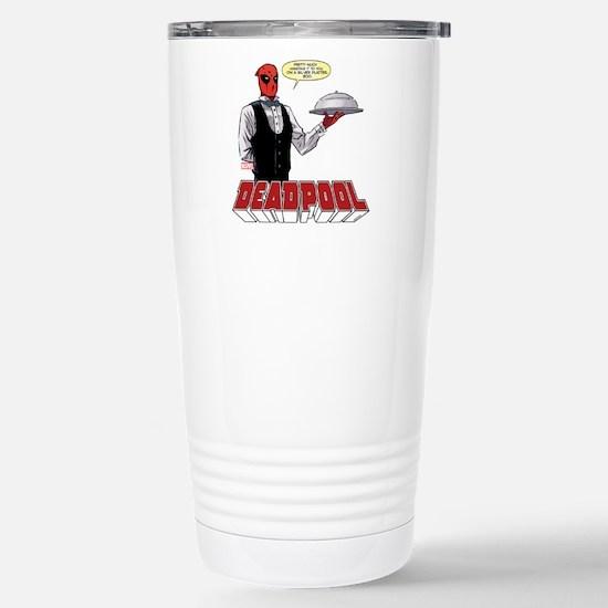 deadpool silver Stainless Steel Travel Mug