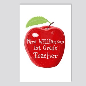 Personalised Teacher Apple Painting Postcards (Pac