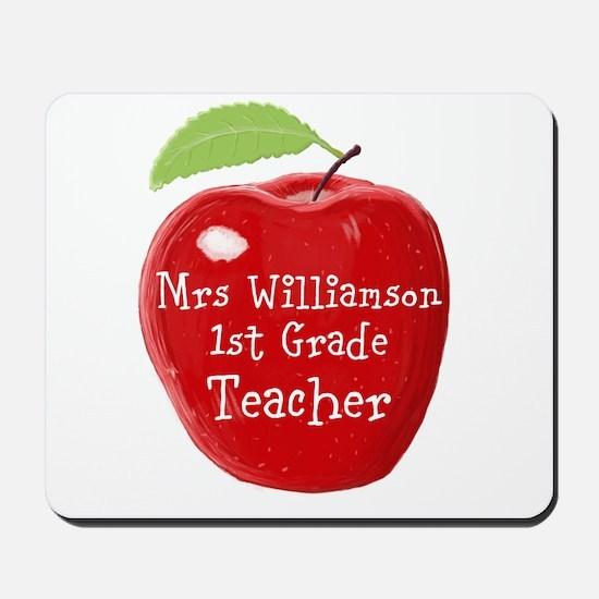 Personalised Teacher Apple Painting Mousepad