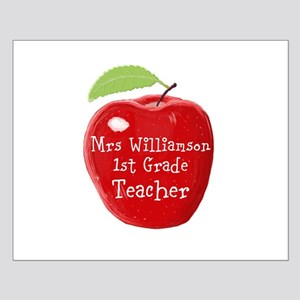 Personalised Teacher Apple Painting Poster Design