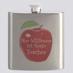 Personalised Teacher Apple Painting Flask